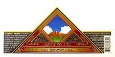Santa Fe Brewing SANTA FE NUT BROWN ALE paper beer label NM 12oz Var. #2