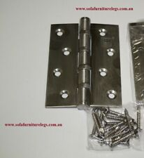 1 x NEW STAINLESS STEEL DOOR HINGE  100 x 75 x 3 THICKNESS with SCREWS
