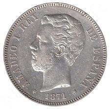 ESPAÑA 5 Pesetas plata 1871 AMADEO I *18 *73* muy raro (1873)