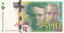 BILLET BANQUE 500 Frs pierre et marie CURIE 1994 SUP 704