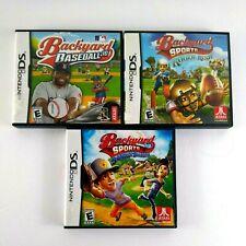 Nintendo DS Backyard Sports Lot 3 Games Baseball 10 Rookie Rush Sandlot Sluggers