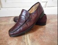 Russell & Bromley Genuine Ox Blood Leather Loafer Shoes - Made In Italy Size 8.5
