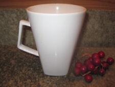 """Pier 1 Quadrado Square Mug Cup White 4 5/8""""  EUC"""