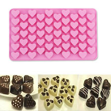 New 55 Holes Mini Hearts Cake Moldes Silicone Para Fondant Stampi Silicone Molds