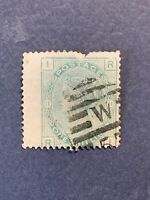 1856 Great Britain, Queen Victoria 1 Shilling Postage Stamp #28