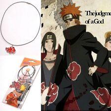 Top New Itachi Sasuke Madara Rot Wolke Konoha Ninja Cosplay Necklace Halskette