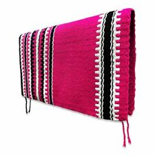 "Western Saddle Show Pad Blanket Pink Black White Navajo 32"" x 36"" Washable New"