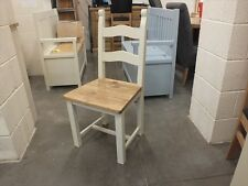 X1 BRETON PAINTED CHAIR RECLAIMED SEAT CHOICE OF COLOURS AVAILABLE OFF WHITE