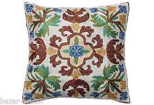 exklusiv Orient handbestickte Seiden sumakh Kissen Sitzkissen Kashmir cushion  A