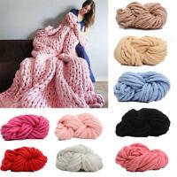 250g Ball Chunky Wool Yarn DIY Super Soft Bulky Arm Knitting Roving Crocheting