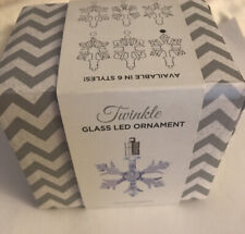 Twinkle Glass LED Ornament Snowflake Christmas Silhouette Decoration Two Company