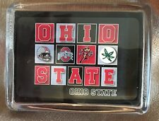 Ohio State University Buckeyes Lucite Paper Weight by Waterfall Glass Collection