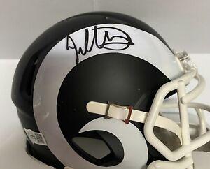 Los Angeles Rams Todd Gurley Signed Matte Black Mini Helmet Fanatics Hologram