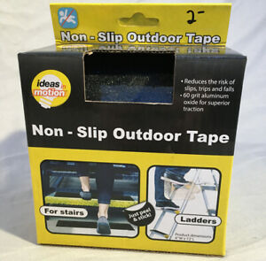 "Anti Slip Traction Tape 4"" x 12' Black Outdoor Non Skid Tread - Ideas In Motion"
