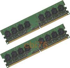 LOT de 2 barrettes mémoire de 1GO/GB soit 2GO DDR2 PC2-5300 667MHZ 240PIN 1FACE