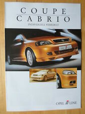 IRMSCHER Opel Astra Coupe Cabrio German Mkt Sales Brochure 2002 - Vauxhall