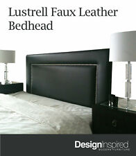 LUSTRELL Low Rise Bedhead for Queen Ensemble - Black