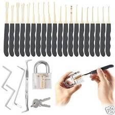 24Pcs Pad Lock Practice Picking Kit Lock Opener Tools Transparent Key Extractor