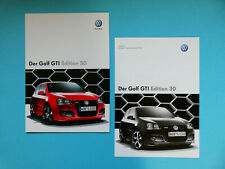 Prospekt / Katalog / Brochure mit Preisliste VW Golf GTI Edition 30  10/07