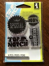 Inkadinkado - Top Notch - Quality Is Priority Mini Clear Stamps