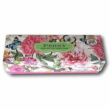 Michel Design Works PEONY Boxed Set of 12 Guest Soaps + Shea Butter + Aloe Vera