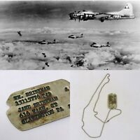 William Brinkman 1942 Air Corps European Theater Bomber Pilot Dog Tag WWII Relic