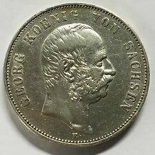 5 Mark 1903 E Silbermünze Sachsen König Georg