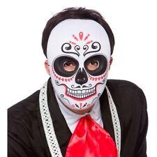 Maschere bianchi in plastica per carnevale e teatro dal Perù