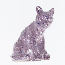 SILVER TABBY CAT MODEL. HALLMARKED STERLING SILVER CAT FIGURINE or SHELF MODEL