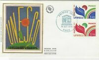France 1978 UNESCO Council of Europe Slogan Cancels + Stamps FDC Cover Ref 31712