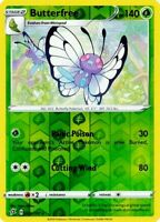 Butterfree 003/192 Sword & Shield Rebel Clash REV HOLO PACK FRESH MINT! Pokemon