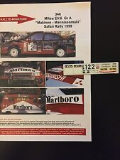 DECALS 1/43 MITSUBISHI LANCER MAKINEN RALLYE SAFARI KENYA 1999 WRC RALLY