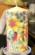 Gli uccellini, api, farfalle e fiori a mano arredamento pilastro candela Vaniglia profumo