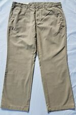 Sonoma Men's Khaki Tan Pants Size 40 X 30 Flat Front Straight Fit Cotton Twill