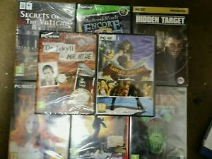 Bargain Bundle of 8 NEW and SEALED PC HIDDEN OBJECT Games Fun Galore!!