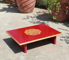 Holy Puja Table for Personal Meditation Handmade Traditional Bajot Wood Chowki