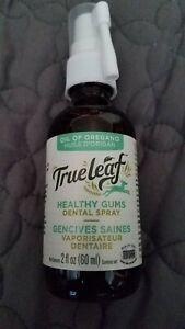 True Leaf healthy gums dental spray 2oz oil  of oregano