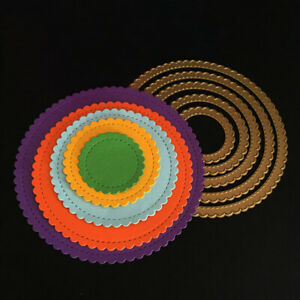 5pcs New Metal Scalloped Circles Cutting Dies / Nesting Circle Cutting Die