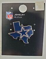 NFL DALLAS COWBOYS TEXAS STATE SHAPED LOGO COLLECTIBLE PIN-FREE SHIPPING!