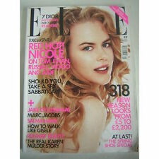 Elle UK Fashion Magazine March 2003 Nicole Kidman Jake Gyllenhaal Karen Mulder