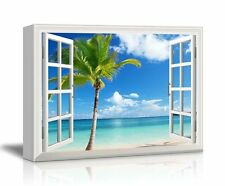 "Canvas Print Wall Art- Scenery/Landscape Palm Tree on Tropical Beach - 36"" x 48"""