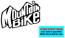 Mountain Bike #080 Vinyl decal sticker Graphic Die Cut Car Truck Window 10""