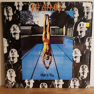 Def Leppard Vinyl LP High 'n' Dry 1981 Mercury Records Still in Shrink w/ Inner