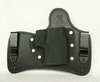 FoxX Holsters Leather & Kydex IWB SOB Hybrid Holster Sig Sauer P250FS Black LEFT