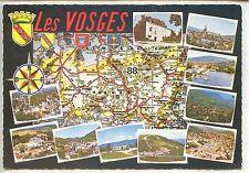 CP 88 Vosges - Carte - Multivues - Blasons