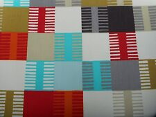 "Scion/Harlequin CURTAIN FABRIC ""NAVAJO"" 3.5 mètres tomate/Multi - 100% coton"
