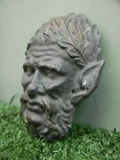 More details for antique 19thc architectural lead head of a satyr