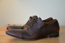 n.d.c ndc Made by Hand Brown Leather Lace Up Cap Toe Oxfords Men's EU 42 US 9.5
