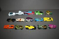 LOT OF 15 HOT WHEELS, MATCHBOX DIE CAST METAL & PLASTIC CARS AND TRUCKS (4)