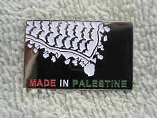 "Palestinian Patriot  ""Made In Palestine"" Solidarity Pin Palestine Flag Colors"